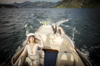 lake como top wedding photo